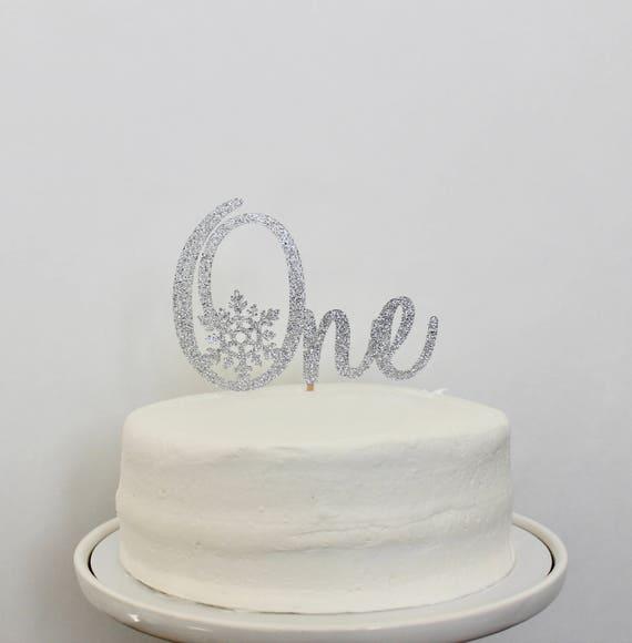 Winter ONEderland Cake Topper Smash Cake Topper Silver | Etsy