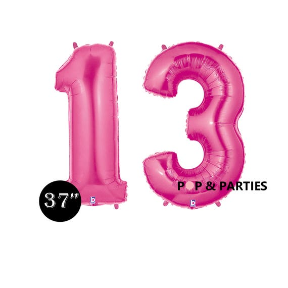 SHIPS FAST Giant Number Balloons13th Birthday Balloons Hot