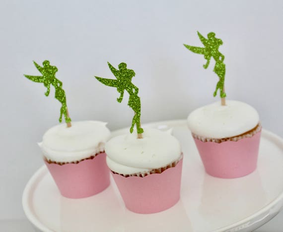 12 Ct Tinker Bell Cupcake Toppers And Wrappers