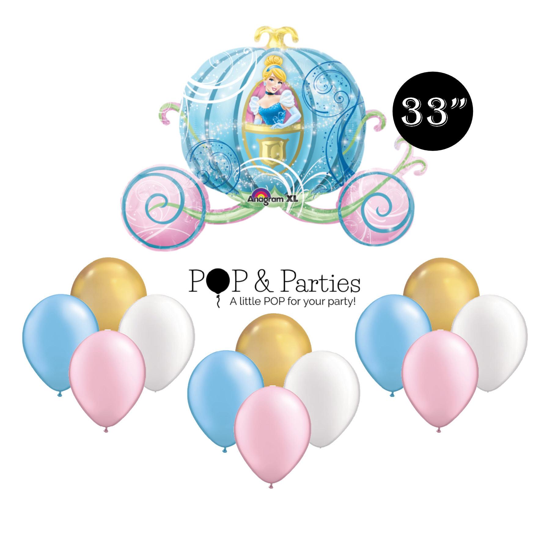 "Disney Princess Cinderella Carriage 33/"" Balloon Birthday Party Decorations"