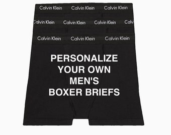 Calvin Klein Men's Boxer Brief | Personalize your own | Anniversary Gift for Boyfriend or Husband | Cotton Anniversary Gift | Christmas Gift