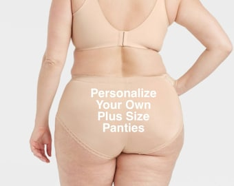 Personalize Your Own Plus Size Pearl Tan Lace Brief  * FAST SHIPPING * - Sizes X, XL, 2XL, 3XL and 4XL Plus Size Lingerie