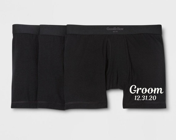 Groomsday Boxer Briefs With Wedding Date | Hubby Boxer Briefs With Wedding Date | Men's Wedding Day Accessory | FAST SHIPPING