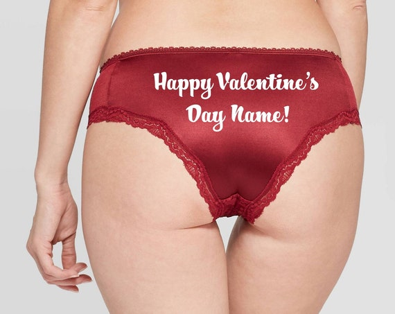 Happy Valentine's Day Personalized red Cheeky Panty *FAST SHIPPING*