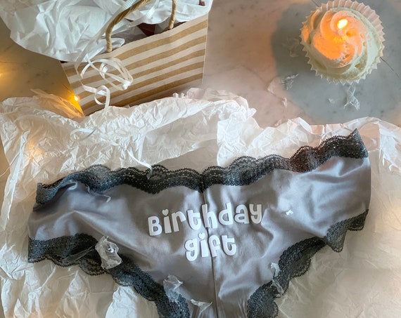 Birthday Gift Gray Cheeky Underwear * Fast Shipping * | Birthday Gift for Him | Birthday Gift for Her | Birthday Underwear | Custom Panties
