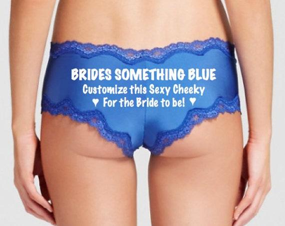 Brides Something Blue Custom Underwear / FAST SHIPPING