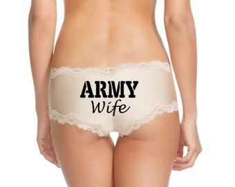 Army Wife Panties. Army Husband Gift. Army Wife Gift. Army Girlfriend. Army Gift. Gift For A Soldier  * FAST SHIPPING * - Military Panties