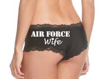 Air Force Wife Panties * FAST SHIPPING * Air Force Girlfriend / Air Force Bride / Military Wife / Military Bride / Military Underwear