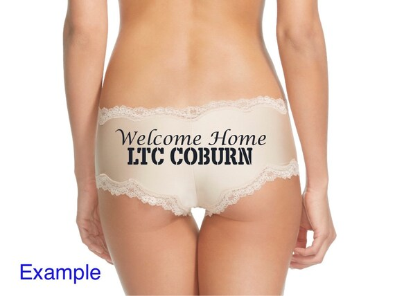 Surprise your soldier with a Personalized Welcome Home Military Rank and Name Panty * FAST SHIPPING *