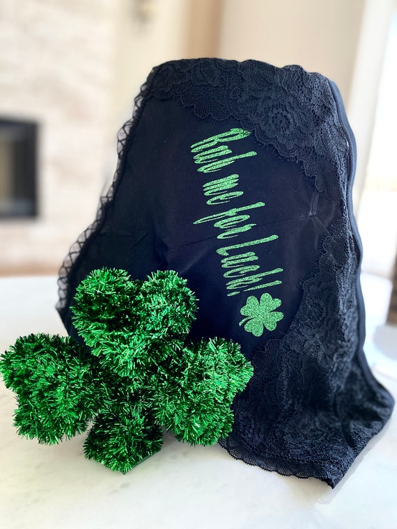 Rub me for luck black plus size cheeky panty * FAST SHIPPING * St. Patricks Day Cheeky Panty