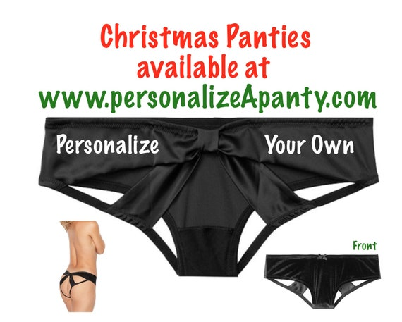 Personalize Your Own black Victoria Secret Very Sexy Strappy Mesh Bow Cheeky Panty * FAST SHIPPING * Christmas Stocking Stuffer Lingerie