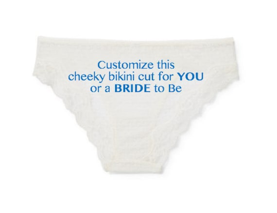 6afadd224a8 ... CUSTOMIZE this Lace Cheeky Bikini cut for YOU or the BRIDE to Be