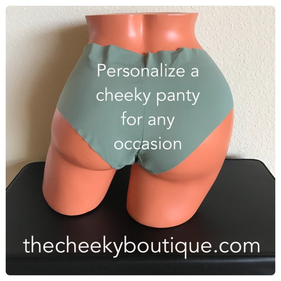 Personalize a military army green cheeky panty * FAST SHIPPING *