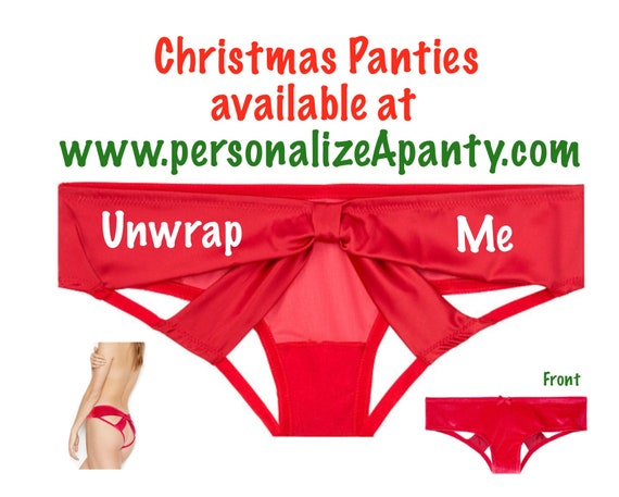 Unwrap Me red Victoria Secret Very Sexy Strappy Mesh Bow Cheeky Panty * FAST SHIPPING * | Christmas Gift | Stocking Stuffer | Lingerie