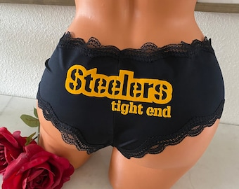 Steelers Tight End Black Cheeky Panty * FAST SHIPPING * Football Panties | Show Steelers black & gold love | New Plus Size Options