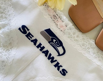 Seattle Seahawks White Victoria Secret Cheeky Panty * FAST SHIPPING * Football Panties