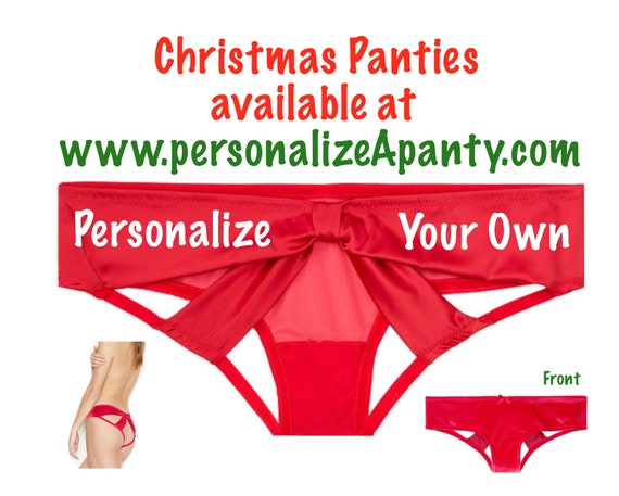 Personalize Your Own red Victoria Secret Very Sexy Strappy Mesh Bow Cheeky Panty * FAST SHIPPING * Christmas Stocking Stuffer Lingerie