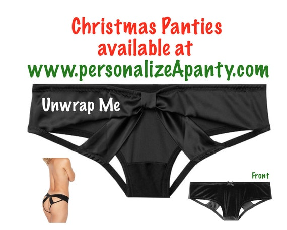 Unwrap Me black Victoria Secret Very Sexy Strappy Mesh Bow Cheeky Panty * FAST SHIPPING * | Christmas Gift | Stocking Stuffer | Lingerie