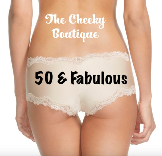 50 & Fabulous Birthday Panties Sizes XS, S, M, L and XL * Fast Shipping *