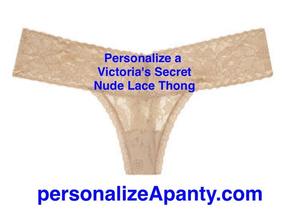 6feee104505 ... Personalize a Victoria s Secret Lace Nude Thong  Fast Shipping
