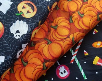 Halloween Fabric, Candy Party, Pumpkins or Trick or Treat Halloween Fabric