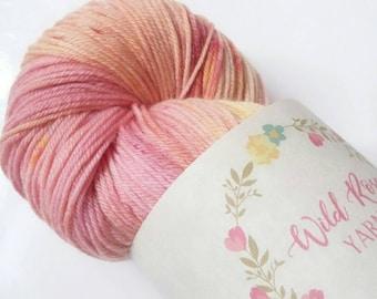 Hand Dyed Yarn UK by WildRoseYarn on Etsy