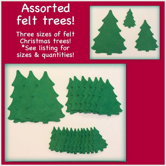 Colors Christmas.Felt Trees Mix Green Colors Christmas Holiday 25 Piece Set Die Cut Precut Shapes And Forms Scrapbooking Card Making Sew Or Glue Felt T65