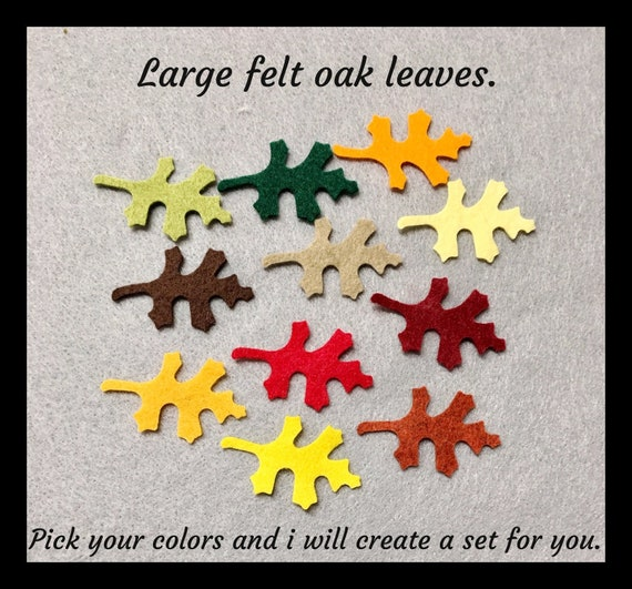 Felt tree with or without leaves scrapbook fall autumn color 2//4//10 trees leaf