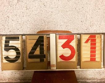 Vintage scoreboard | Etsy
