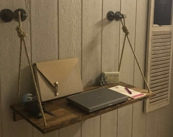 Industrial Hanging Desk