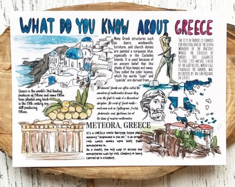 """Postcard """"What do you know about Greece"""""""