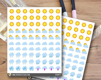 Weather Icon Stickers || DS007 || Planner Stickers