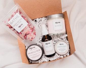 Encouragement Gift Basket Pregnancy Spa Set For Mom Vegan HerGift Bath Box Birthday Her