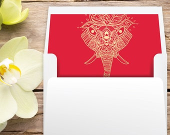 Printable A7 Envelope Liner Square Flap Indian Wedding Etsy