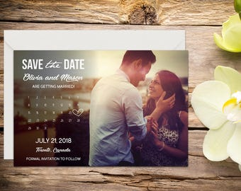 Save The Date Template Etsy
