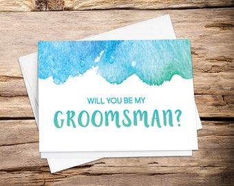 Printable Will you be my, groomsman proposal, groomsman card, be my groomsman, best man card, groomsman, best man, ring bearer, wedding card