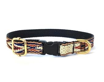 Native Brown Thin Dog Collar
