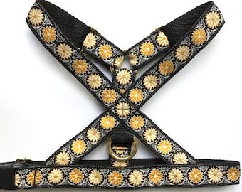 Golden Lotus Dog Harness