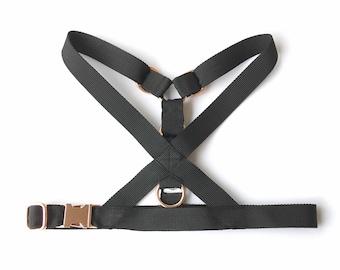 Simply Black dog harness