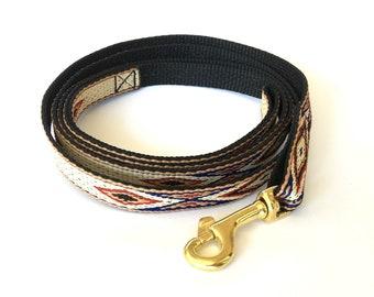 Native Brown Thin Dog Leash