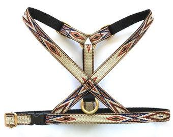 Native Brown Thin Dog Harness