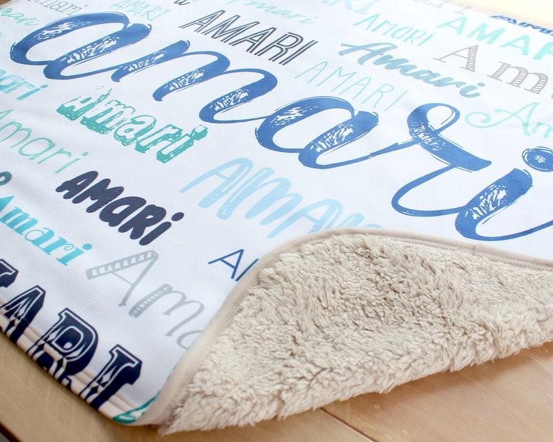 Personalized Baby Blanket Baby Name Blanket Custom Baby image 0