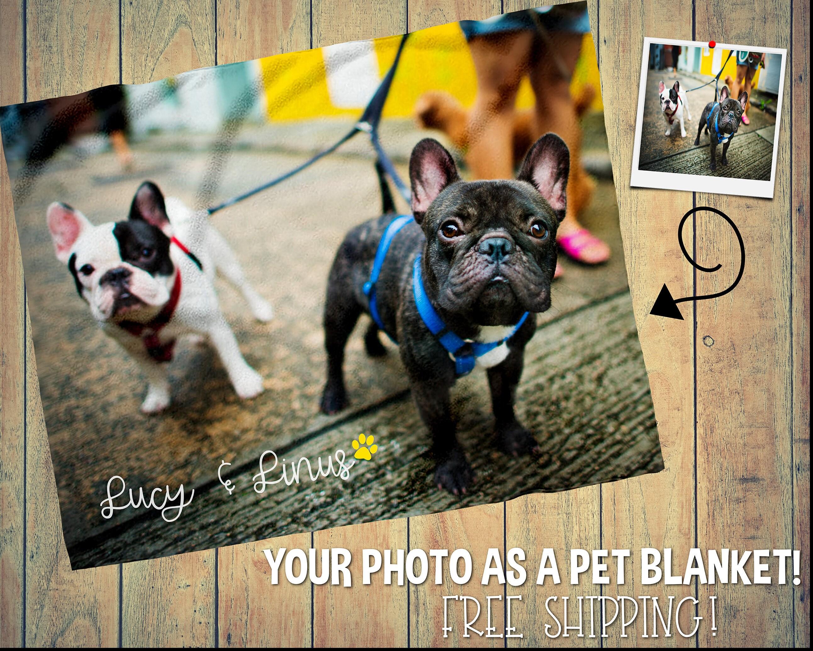 54872ed602 Custom Dog Photo Blanket Pet Photo Blanket Dog Name Blanket