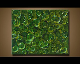 Original Painting green Wall Art Abstract painting Home Decor Modern Art Canvas Artwork Hand Made Abstract Acrylic Painting 11 x 14