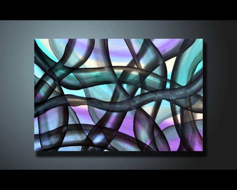 Original Abstract Painting Pastel Green Wall Art Abstract image 1