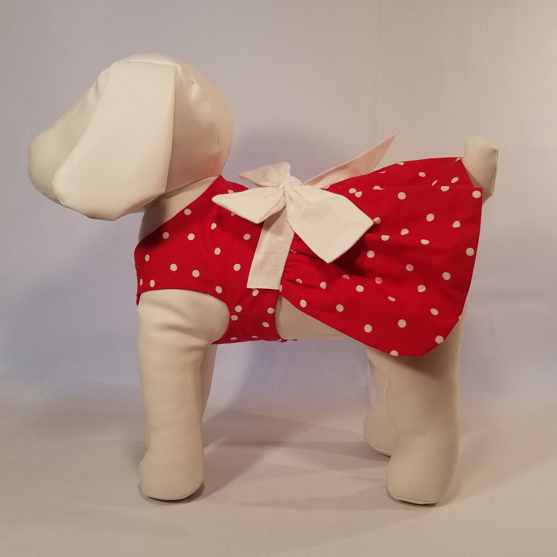 08ab7e7986 Dog Dress Red With White Polka Dots - Dog Clothes Pet Clothes
