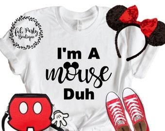 I/'M A GHOST DUH T SHIRT HALLOWEEN COSTUME FASHION FANCY DRESS MOUSE MEAN GIRL NE
