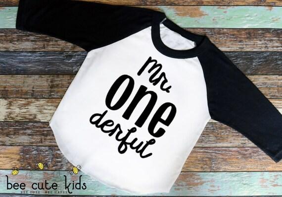 First Birthday Shirt Mr Onederful Boys 1st