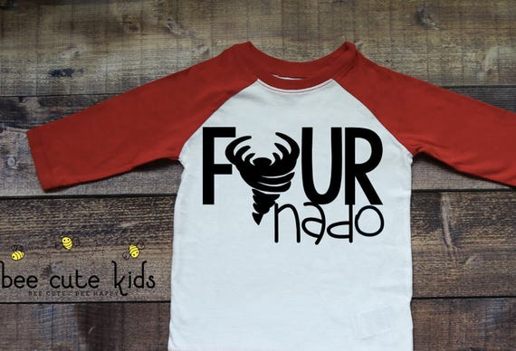 Fournado 4th Birthday Shirt Kids