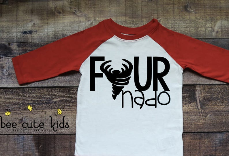 Fournado 4th Birthday Shirt Kids